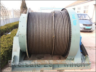 Eversafe ship docking winch 25 T
